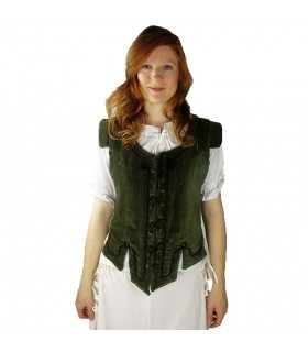 Gilet de modèle médiéval Adrienne, vert