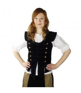 Veste de Capitaine pirate Adaliz, noir