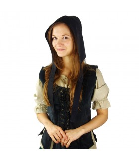Crespina médiévale modèle féminin Alex, noir