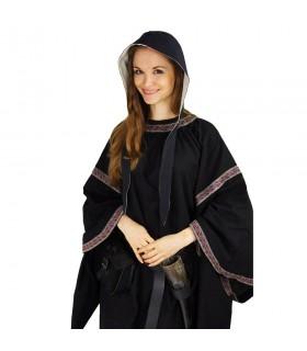 Crespina médiévale modèle féminin Alex, le noir et le blanc naturel