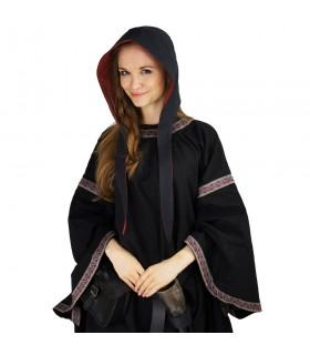 Crespina médiévale modèle féminin Alex, noir et rouge