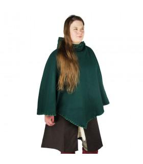 Gugel viking Egill, de la laine vert