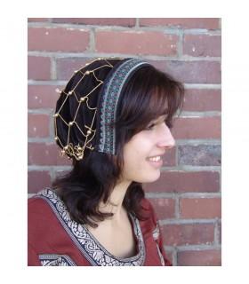 Coiffe médiévale noble Elaine brown