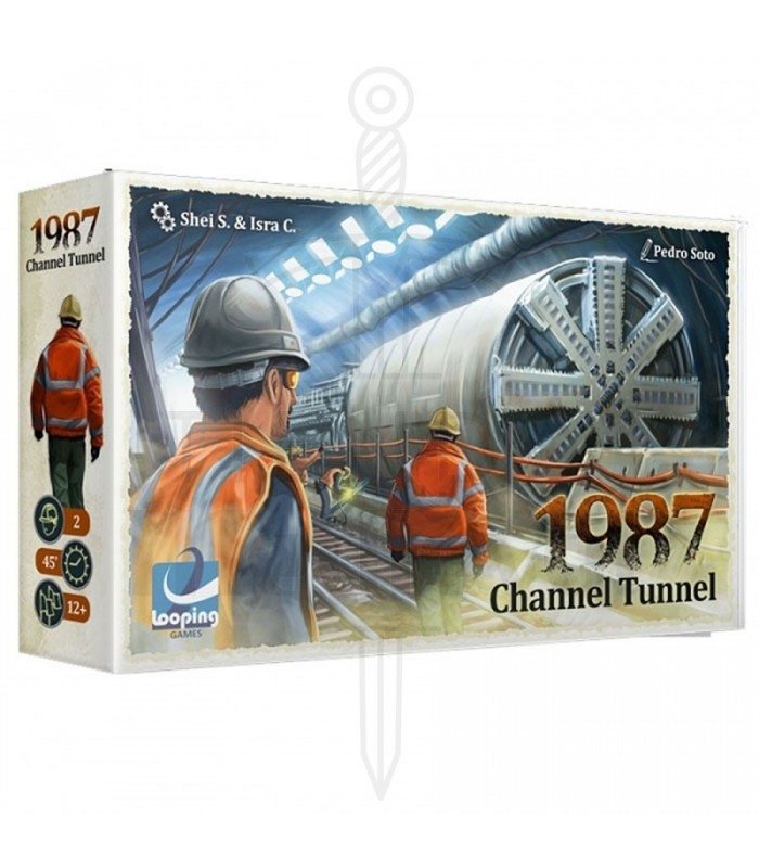 Jeu de plateau Tunnel sous la manche 1987, en anglais