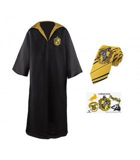 Pack Poufsouffle composé d'une tunique, une cravate, et les tatouages, Harry Potter