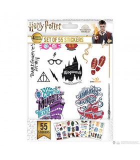 Jeu de 55 autocollants de Harry Potter