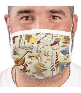 Masque Médiévale Réutilisable-Évalué (pour les adultes)