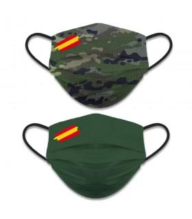 Visage accessoire réversible Niveau 3, Camouflage Camo