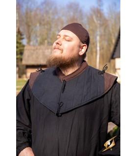 Gorjal médiévale collier, brun-noir