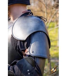Les épaulières de Guerrier médiéval, finition noire
