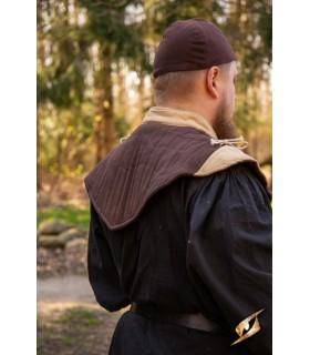 Gorjal médiévale collier, marron-brun clair