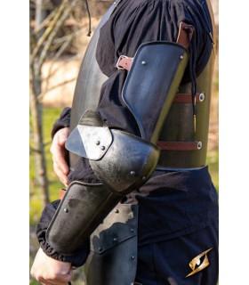 De protection, médiévale bras, finition noire