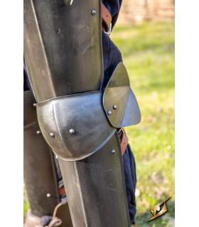 Protection des jambes d'un Soldat, finition noire
