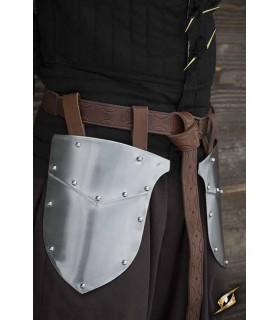 Escarcelas médiévale Guerrier, finition polie