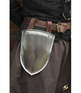 Escarcelas médiévale Écuyer, finition polie