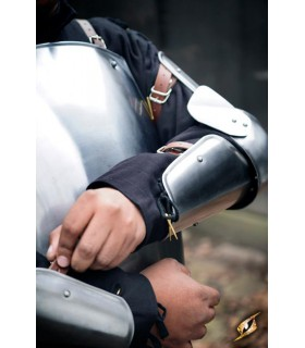De protection, médiévale bras, finition polie