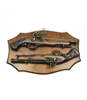 La panoplie de bois avec des armes à feu