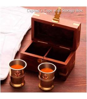 Ensemble de lunettes de Pirate avec boîte en bois