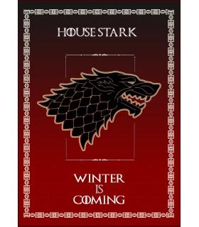 Bannière Jeu de Trônes de la Maison Stark (50x70 cms.)