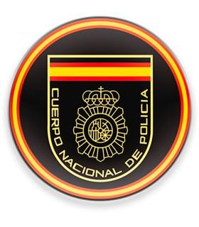 Aimant Corps National de la Police espagnole CNP, un fond noir, pour le frigo