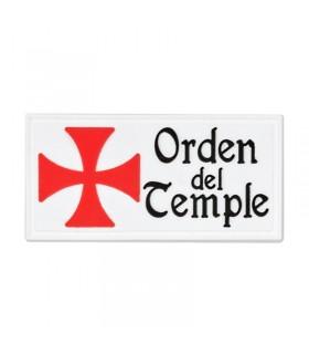 Patch Ordre du Temple avec velcro (6x3 transits cm)