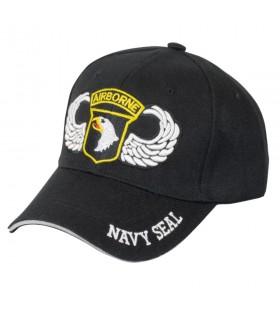 Chapeau noir Airbone NAVY SEAL