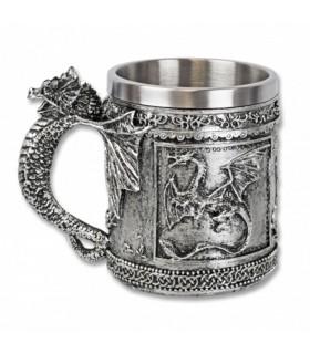 Mug décoratif médiéval dragon