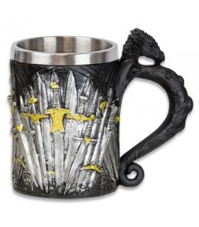 Mug décoratif médiéval épées
