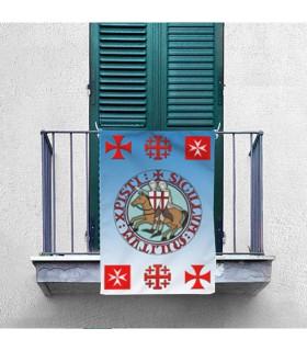 Bannière des Chevaliers et Templiers Croix (70x100 cms.)