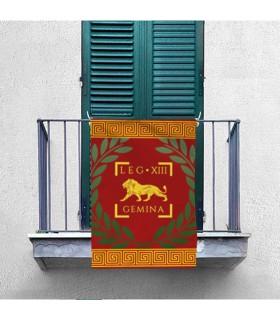 Bannière de la Legio XIII Gemina Romaine (70x100 cms.)