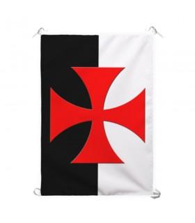 Standard à deux tons Croix des Templiers Formy (70x100 cms.)