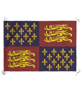 Bannière du Royaume d'Angleterre, XIV-XV siècles (70x100 cms.)