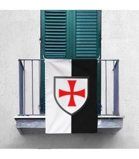 Bannière Bicolor avec la Croix Formy Templiers (70x100 cms.)