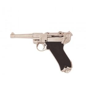 Pistolet Parabellum Luger P08 nickel
