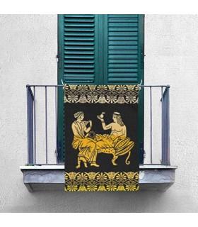 Bannière de Repos et de Loisirs dans la Grèce Classique (70x100 cm.)