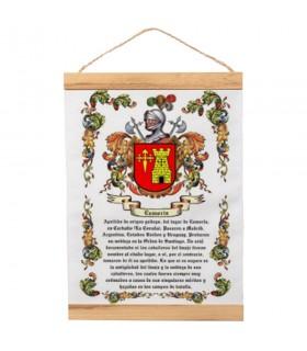 Bannière avec cadre en bois Personnalisé avec votre nom de famille (30x45 cm)