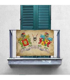 Bannière Médiévale 2 Nom Personnalisé (70x100 cms.)