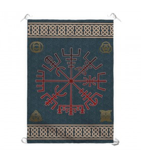 Bannière symbole viking Vegvisir (70x100 cm.)