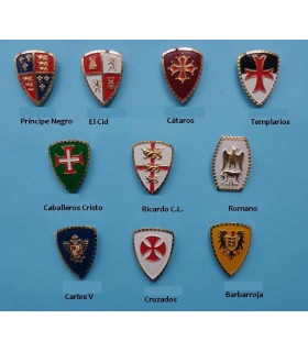 Aimant médiévale avec la Croix de l'Cathares, 5 cm