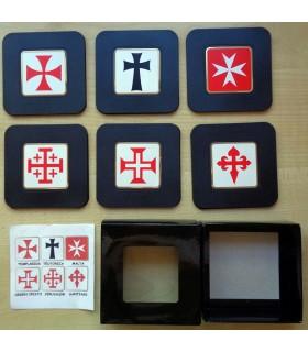 Collection de 6 sous-Verres avec Croix des Templiers