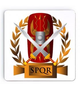 Sous-verres Légions romaines SPQR sur bois, 9 cm