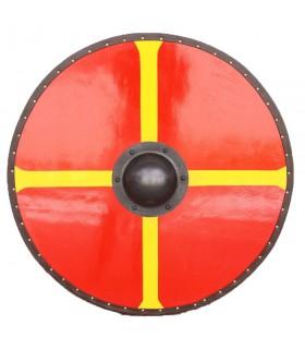 Bouclier Viking Croix du Treuil en bois et en acier