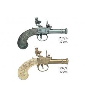 pistolet Anglais fabriqué par Bunney, XVIII siècle