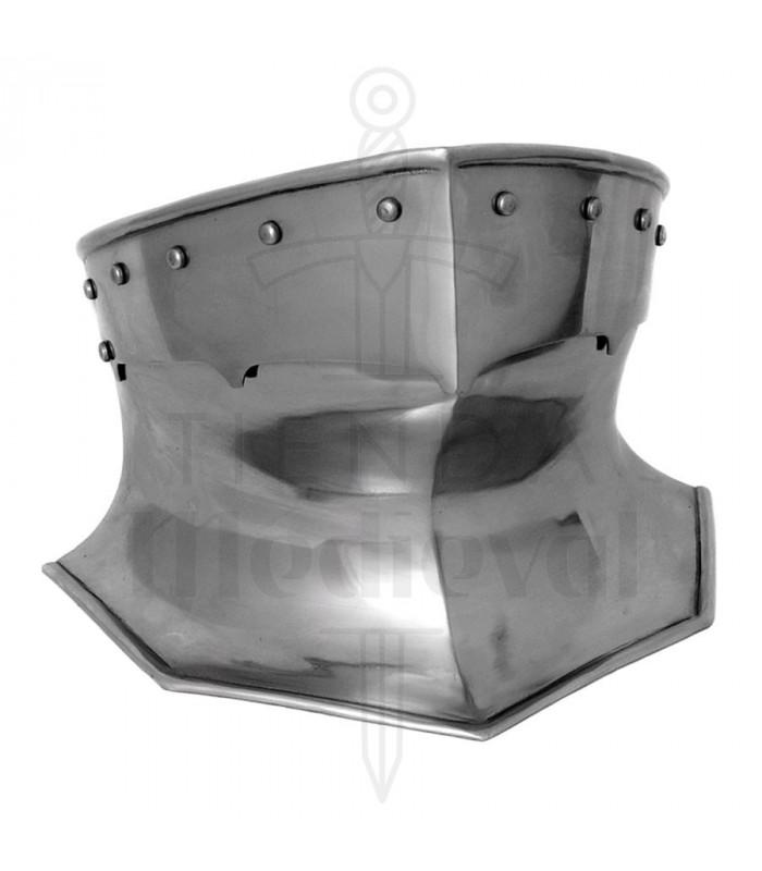 Protège-cou d'armure médiévale en acier, 1,6 mm.
