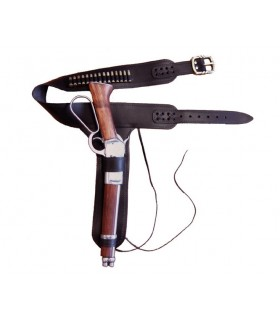 cartouchière en cuir pour fusil Leg Mare avec 15 balles