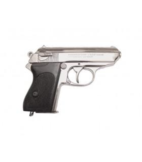 Semi-automatique pistolet nickel, Allemagne 1929 (World War 2).