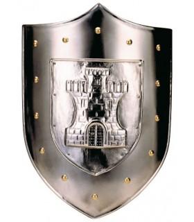 bouclier Gravé avec le château de clous d'or