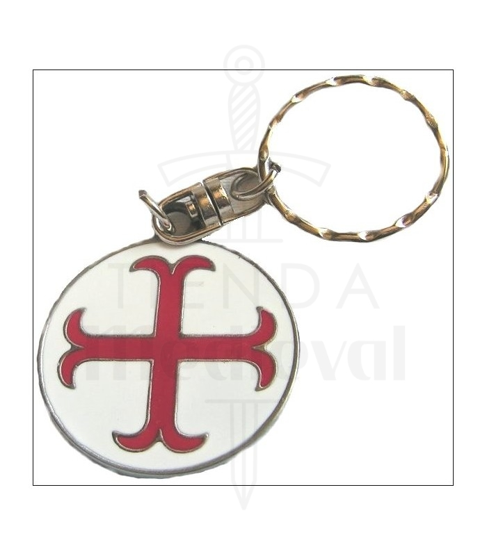 Porte clef croix des templiers ancr e boutique p es for Porte in spanish