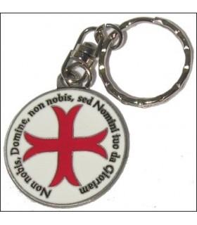 Croix des Templiers Keychain avec la légende