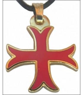 Croix Templière Pendentif coup